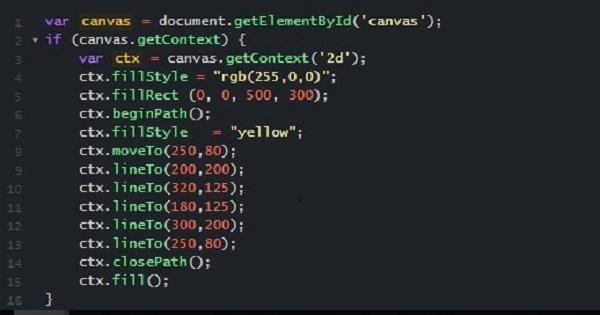 HTML5 14 – Sử dụng Canvas HTML5 vẽ cờ Việt Nam, cờ Nhật Bản