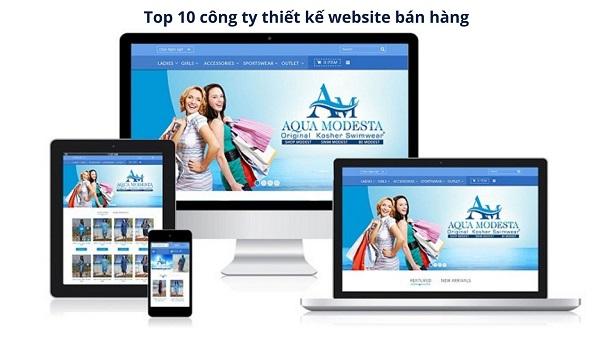 Top 10 công ty thiết kế website bán hàng