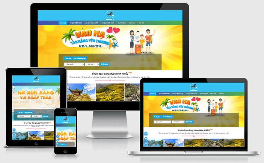 thay đổi giao diện website khách sạn