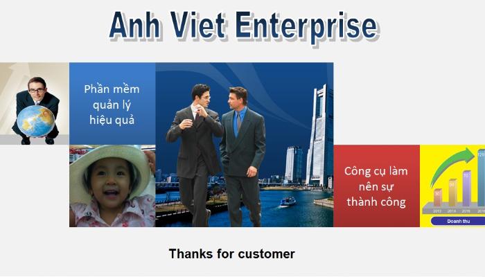 Phần mềm quản lý dự án, dữ liệu Doanh nghiệp - Anh Viet Enterprise